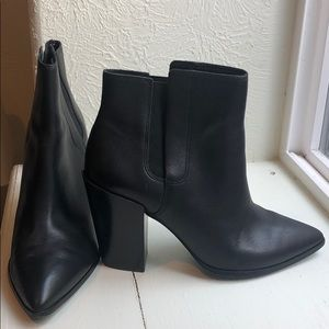 All Saints Sara Leather Ankle Boots